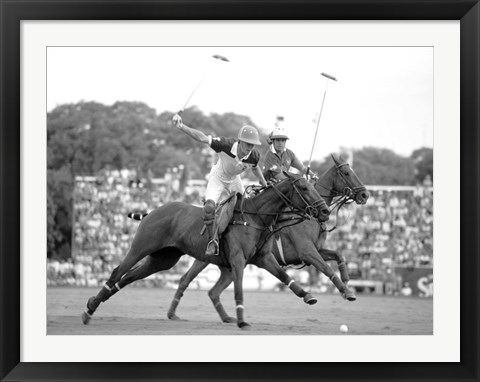 Framed Polo Players, Argentina Print