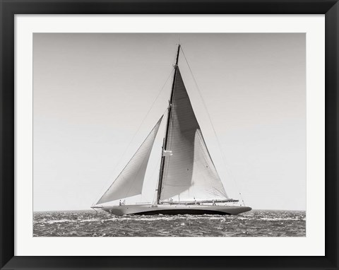 Framed Classic  Racing Sailboat Print