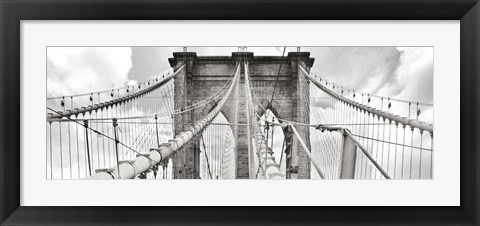 Framed Morning on Brooklyn Bridge, NYC Print