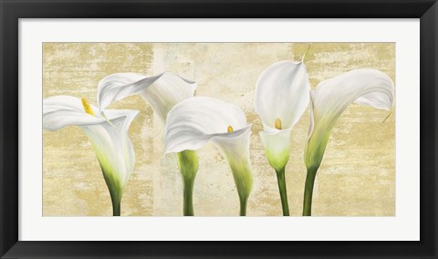 Framed Callas on Gold (neutral variation) Print