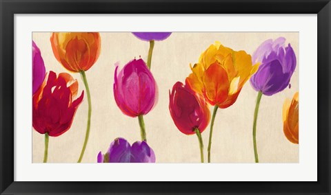 Framed Tulips & Colors Print