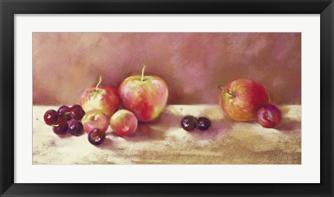 Framed Cherries and Apples (detail) Print