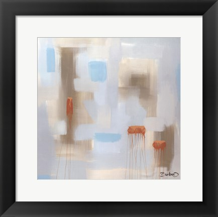 Framed Abstract Diptych II Print