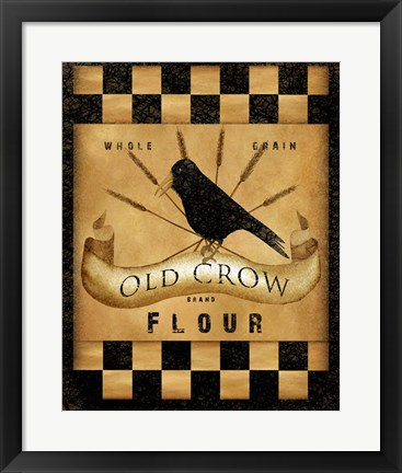 Framed Old Crow Flour Print