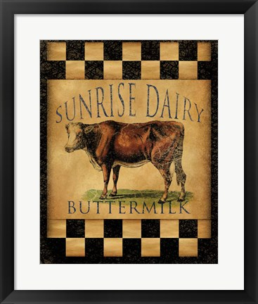 Framed Sunrise Dairy Print