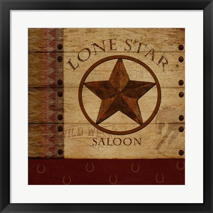 Framed Lone Star Print