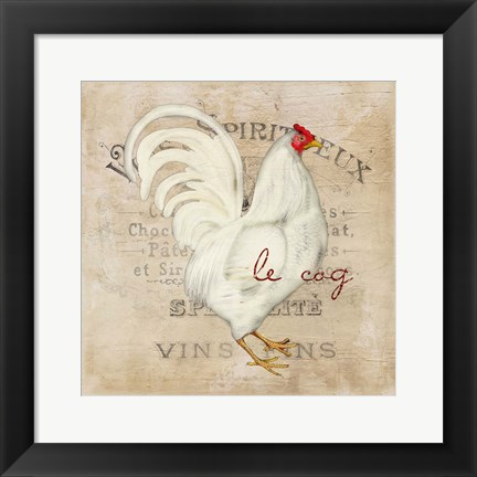 Framed French Rooster Print