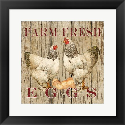 Framed Farm Fresh Eggs II Print