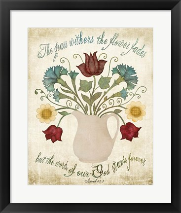 Framed Flower Fades Print