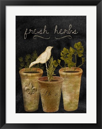 Framed Fresh Herbs Print