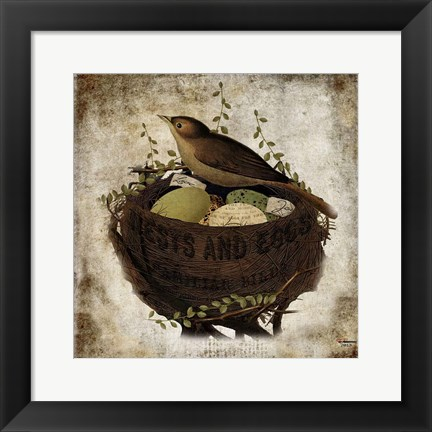 Framed Nest & Eggs Print