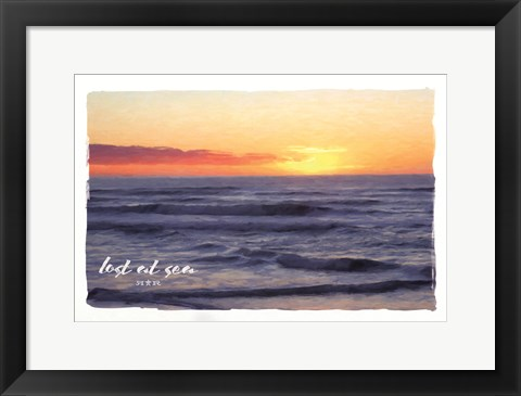 Framed Lost At Sea Print
