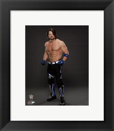 Framed A.J. Styles 2016 Posed Print
