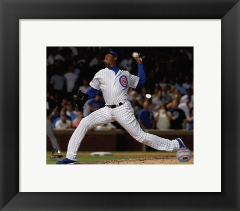 Framed Aroldis Chapman 2016 Action Print