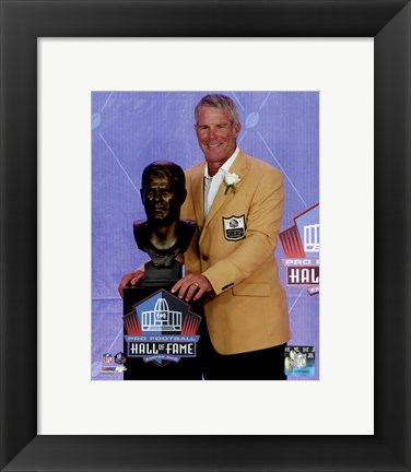 Framed Brett Favre 2016 NFL Hall of Fame Induction Ceremony Print