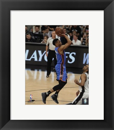 Framed Russell Westbrook 2016 NBA Playoff Action Print