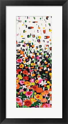 Framed Flower Shower III Print
