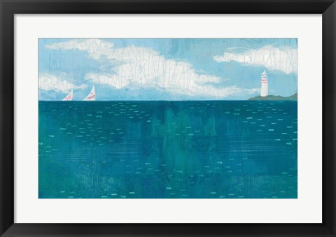 Framed Lighthouse Sail Print