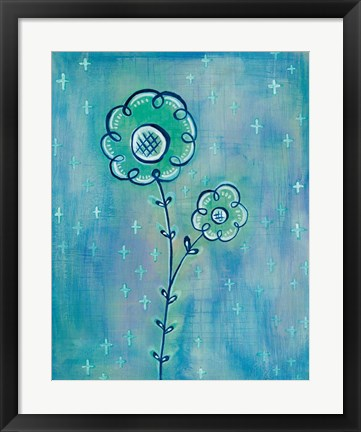 Framed Magical Flowers II Print