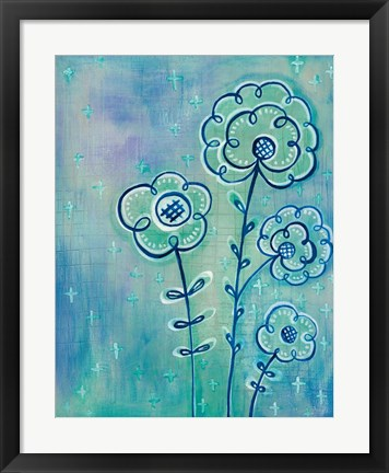 Framed Magical Flowers III Print