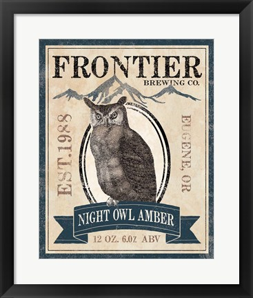 Framed Frontier Brewing III Print