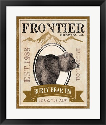 Framed Frontier Brewing IV Print