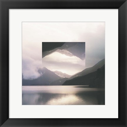 Framed Reflected Landscape II Print