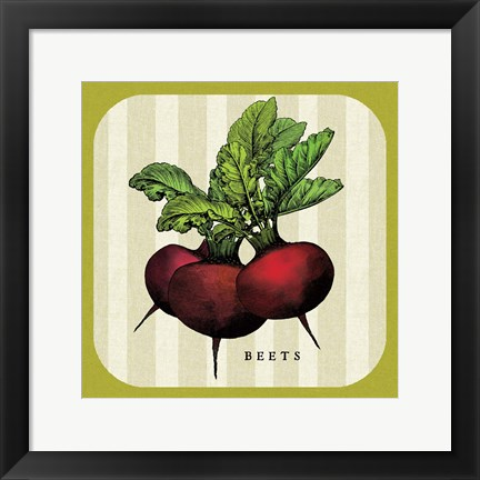 Framed Linen Vegetable I Print