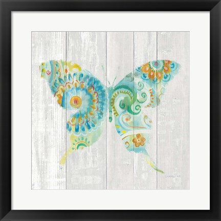 Framed Spring Dream Paisley IX Print