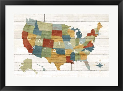 Framed Barnboard Map Print