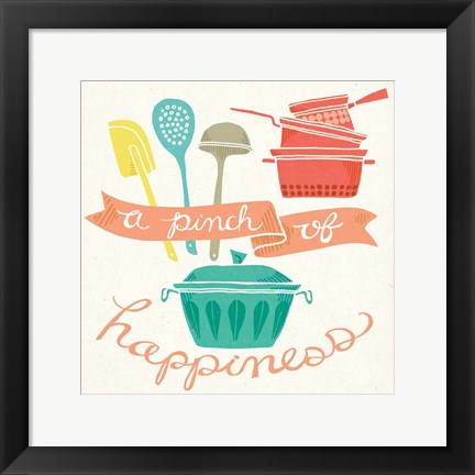 Framed Pinch of Happiness Print