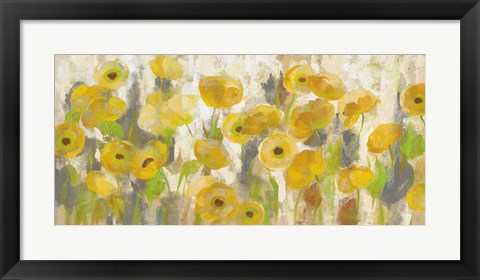 Framed Floating Yellow Flowers I Print