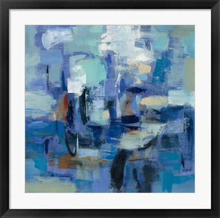 Framed Ultramarine Waves II Print