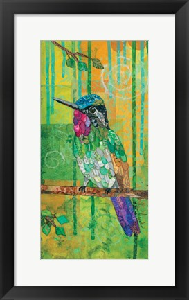Framed Purple-throated Mountain Gem Print