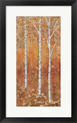 Framed Birch Tryptic I Print