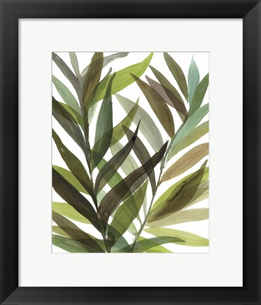 Framed Tropical Greens I Print