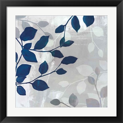 Framed Leaves in the Mist II Print