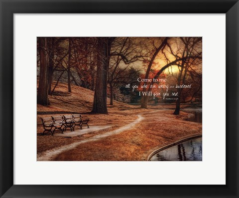 Framed I Will Give You Rest Print
