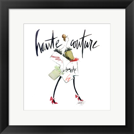 Framed Haute Couture 2 Print