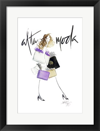 Framed Alta Moda Purple Print