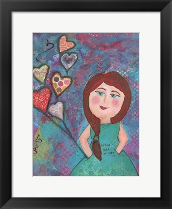 Framed Loved Just As She Is Print