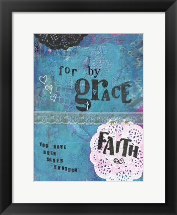 Framed Grace And Faith Print