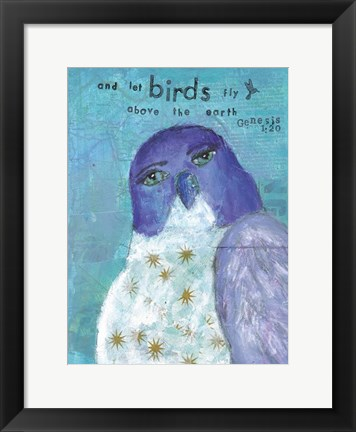 Framed Let The Birds Fly Print