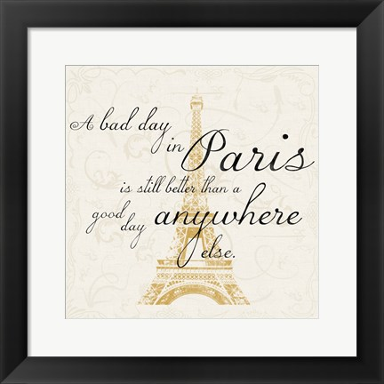 Framed Paris Square Print