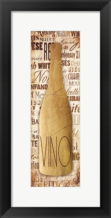 Framed Gold Vino Print