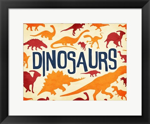 Framed Dinosaurs Three Print