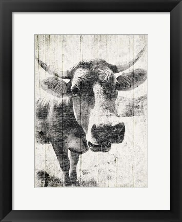Framed Vintage Cow Mate Print