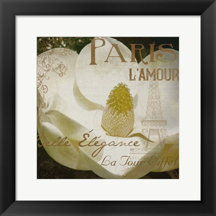 Framed Magnolia Paris Mate Print