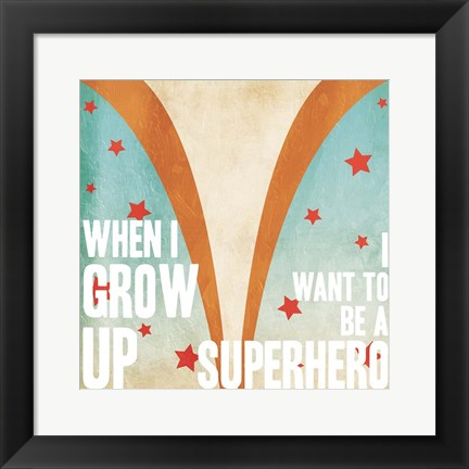 Framed Superhero Power Mate Print