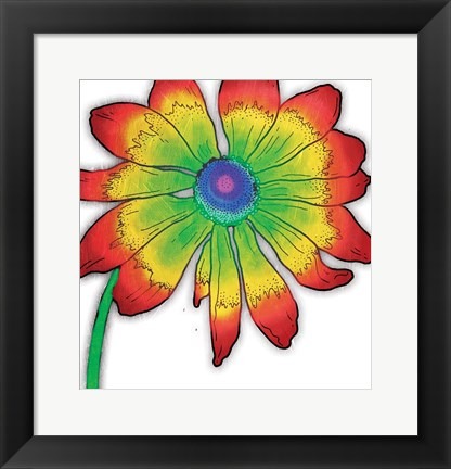 Framed Bright Fun Time Flower Mate Print